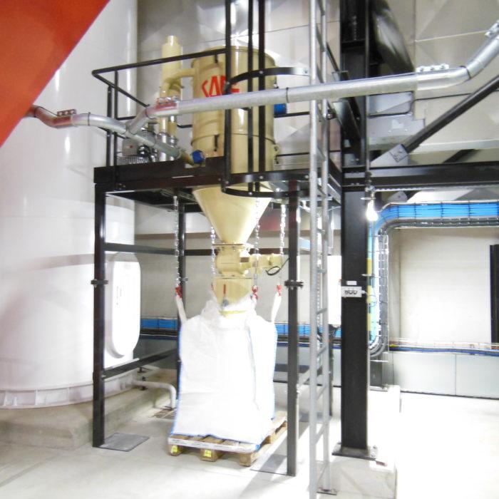 Centrale d'aspiration industrielle