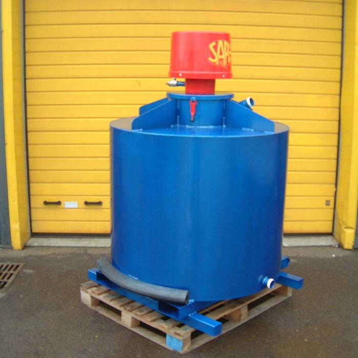 Aspiration de liquide en cuve 1000 litres